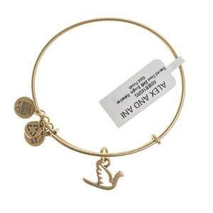 Alex and Ani dove bangle bracelet
